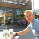 Outlet shopping en Starbucks koffie (chai tea voor Judith)!