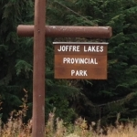 Joffre Lakes sign